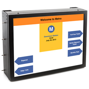 15 inch LCD display with optical bonding for brightness and readability